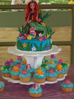 Amazing Ariel Birthday Cupcakes