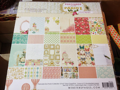 Scrapbook memories sample layout made from postcards from - Boutique scrapbooking paris ...
