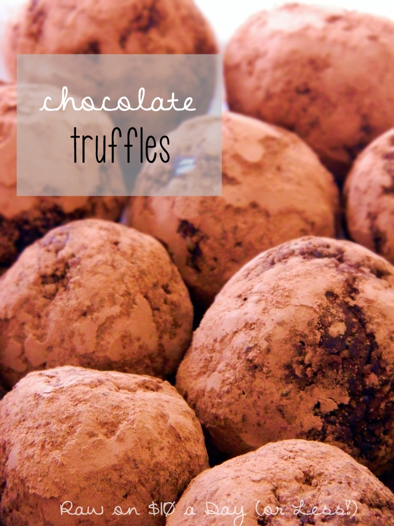 Raw on 10 a day or less raw food recipe chocolate truffles raw food recipe chocolate truffles forumfinder Choice Image