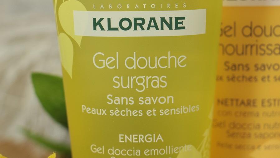 klorane gel douche surgras énergie sans savon
