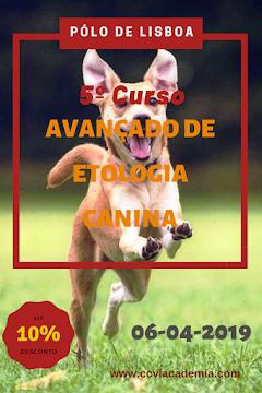 Próximo Curso Avançado de Etologia Canina - Pólo de Lisboa