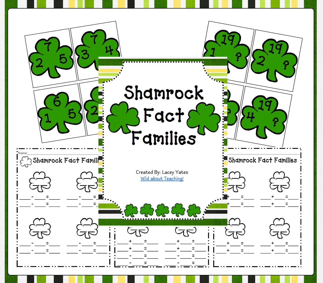Number Family Worksheets (Addition and Subtraction)