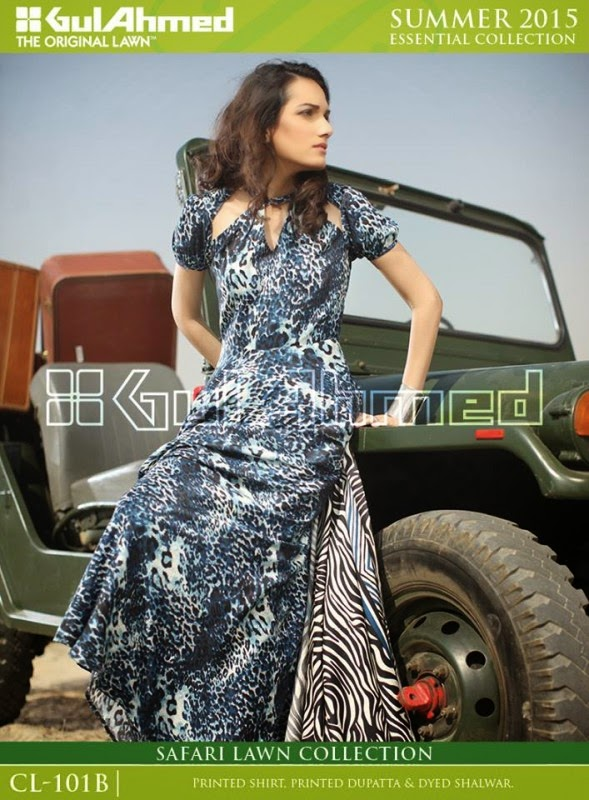 Safari Lawn Summer Collection by Gul Ahmed 2015 10