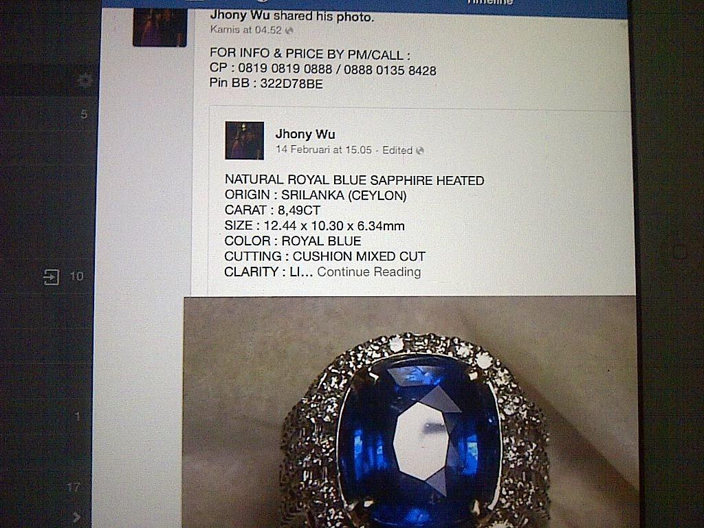 SALAH SATU PENIPUAN FB (JHONY WU). Agar berhati hati