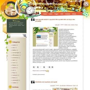 Rambling along Rich Coast of Costa Blogger Template. free download template blogspot