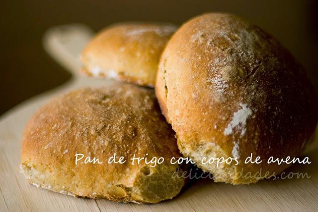 deliciosidades - Pan de trigo con copos de avena