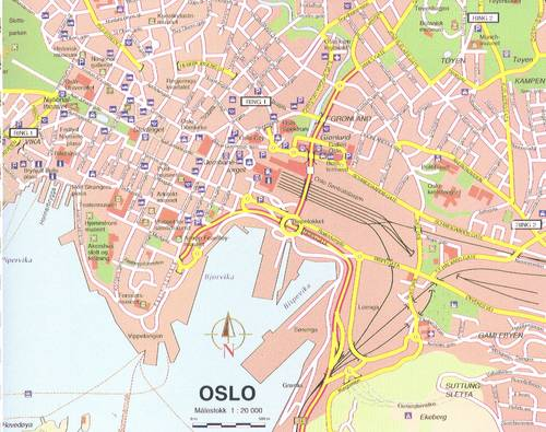 Kart over Oslo Region   Kart over Norge By Regional Provinsen
