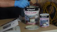 Xylazel deco lasur acabado perla. www.enredandonogaraxe.com