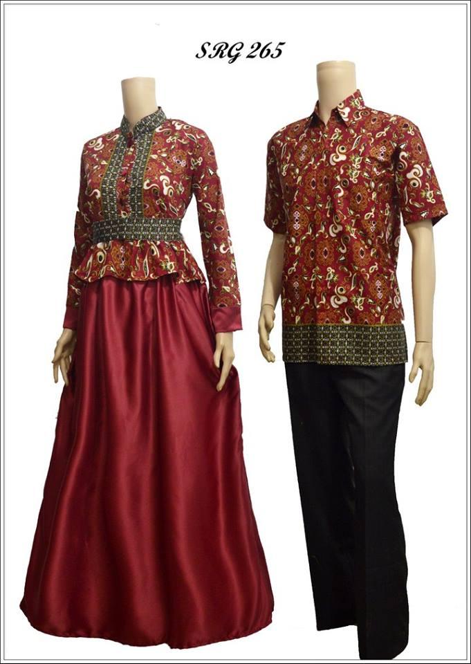 Model Baju Batik Gamis Srg 265