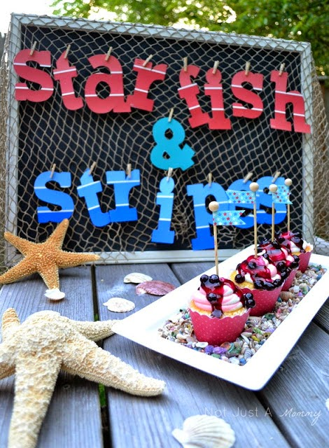 How to create a nautical patriotic table cupcakes