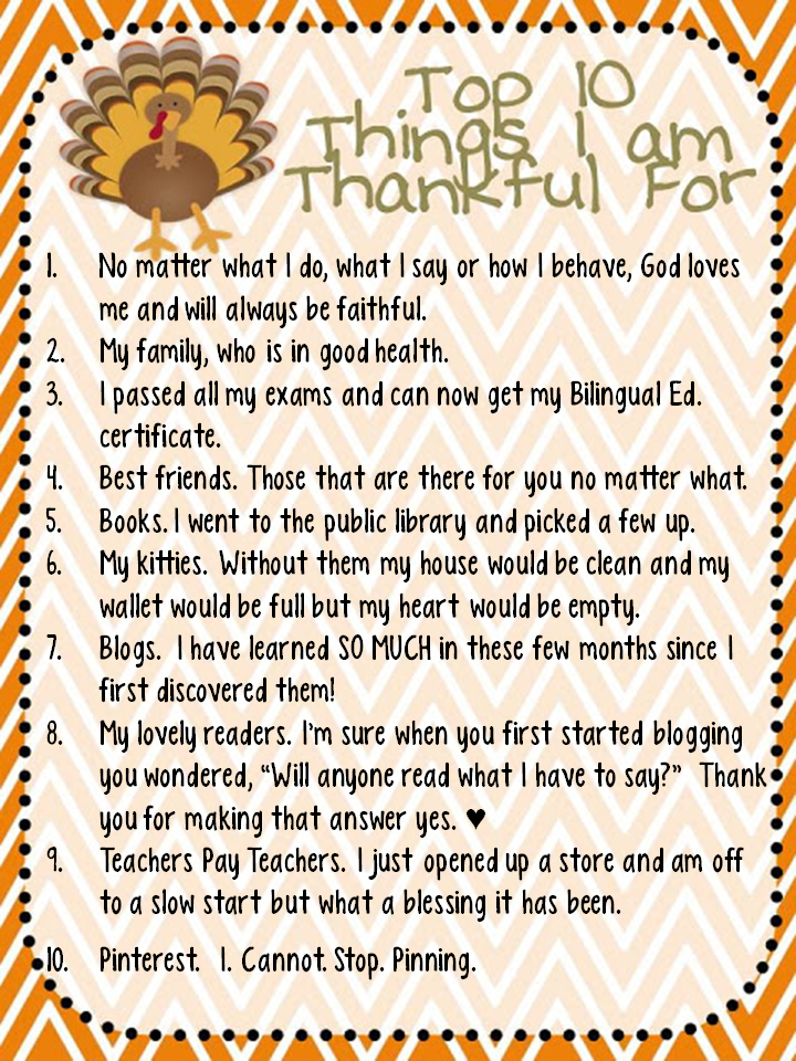 things you are thankful for essay