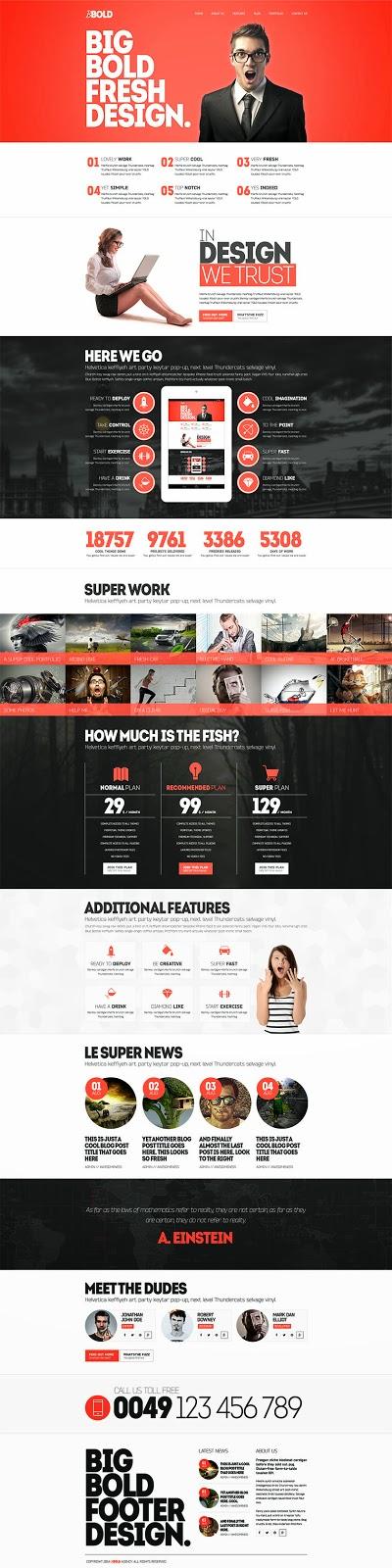 BBold PSD Website Template