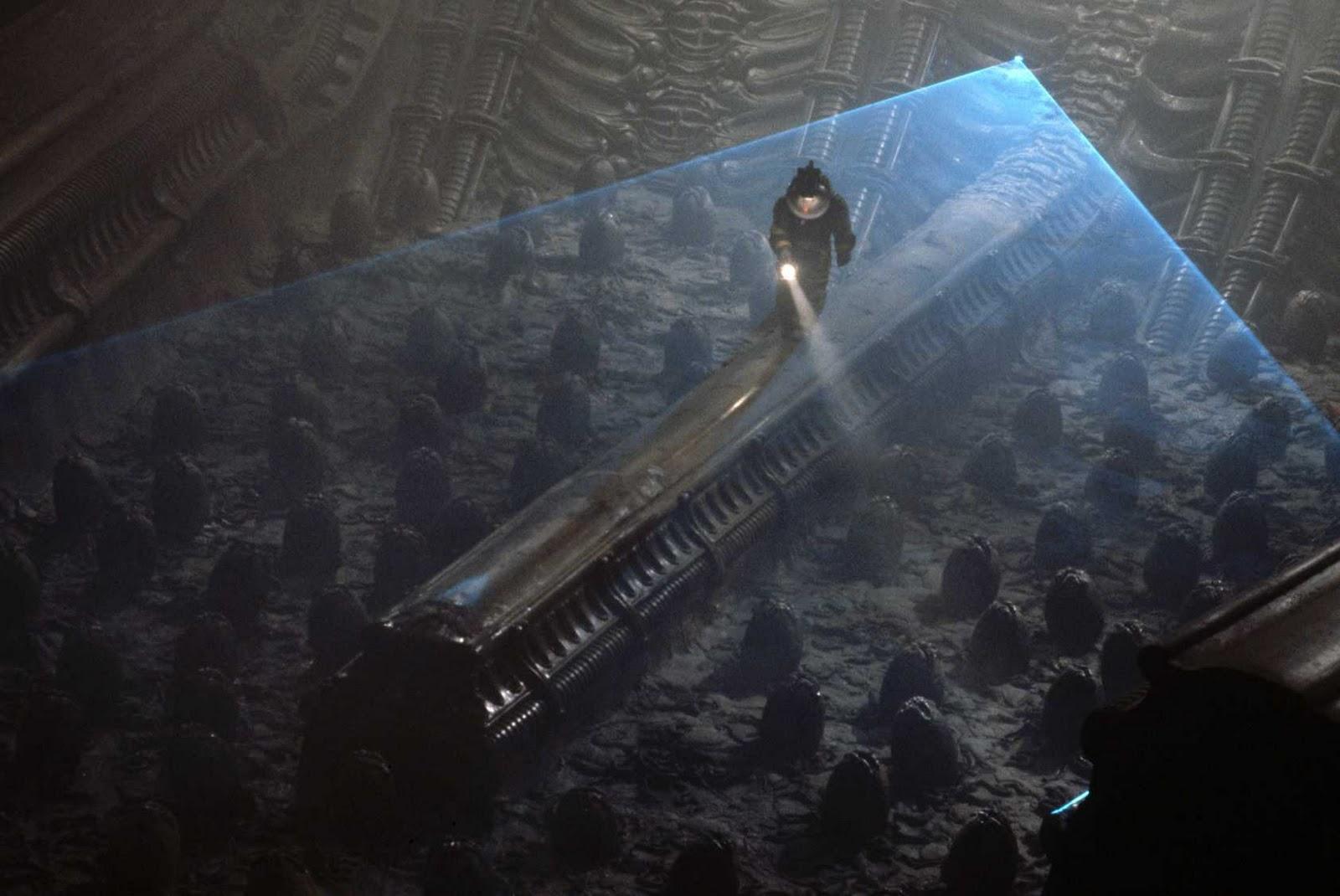 Inside The Derelicta Brilliant Piece Of Production Design Kane (john  Hurt) Discovers The Alien Pods