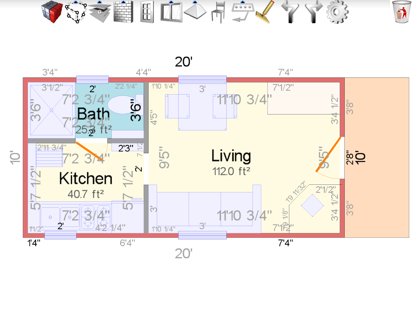 Tinyhouse ranch found treasures for 10x20 tiny house floor plans