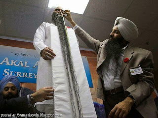 World's Longest Beard – Sarwan Singh, India.