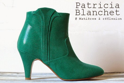 Chaussures vertes Patricia Blanchet boots Reno bottines cuir