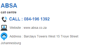 ABSA Customer Service Number South Africa