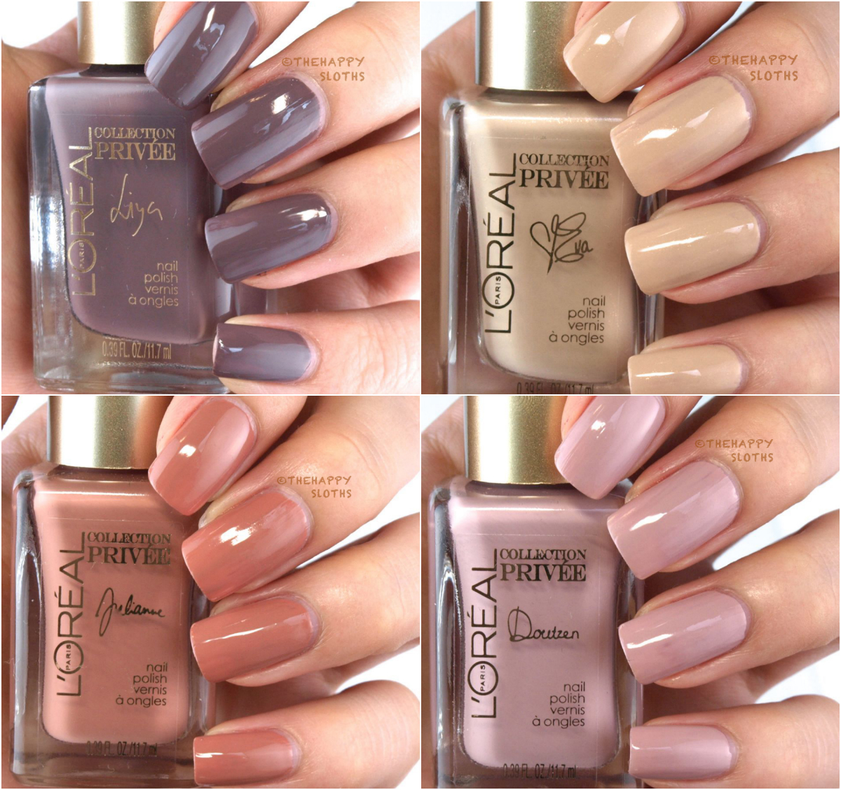 L'Oreal Collection Exclusive Nudes by Color Riche Nail Polish: Review and Swatches