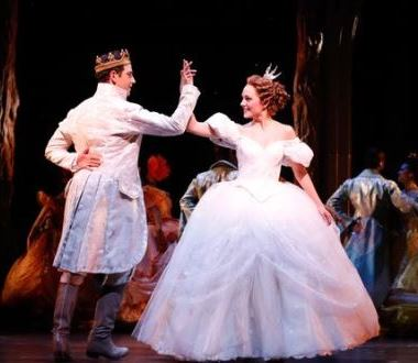 Laura Osnes and Santino Fontana in Rodgers + Hammerstein's Cinderella on Broadway