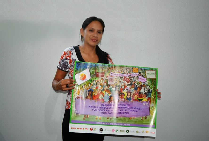 Secretária de Mulheres da FETAGRI/MT anuncia que lançamento estadual da Marcha das Margaridas será dia 12 de fevereiro
