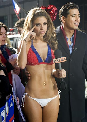 Maria Menounos in a Giants bikini