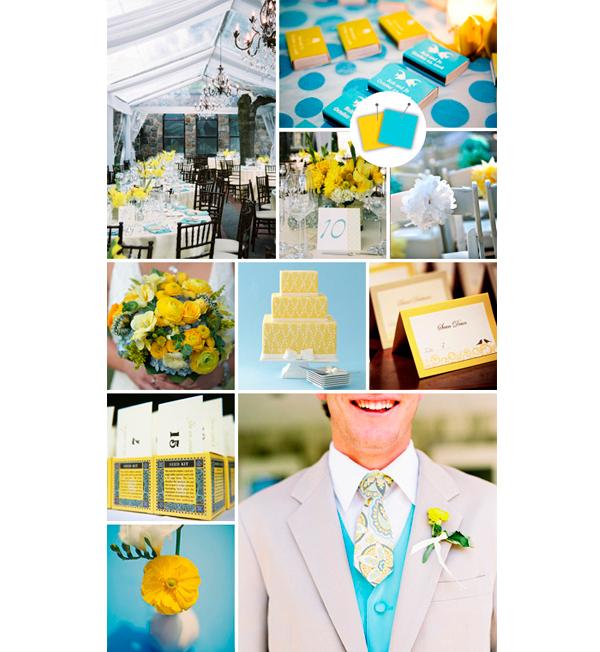 decoracao para casamento azul marinho e amarelo : decoracao para casamento azul marinho e amarelo:Meu casamento – Inspiração azul turquesa e amarelo! – Diário da