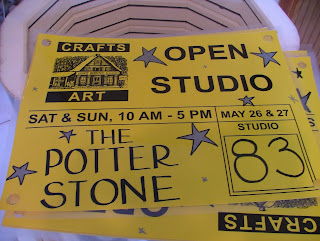 The Potter Stone's Vermont Open Studio Signs