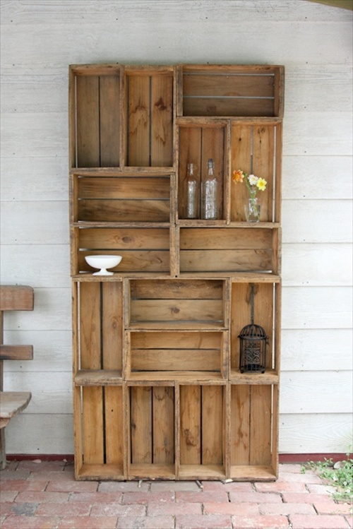 Bookcase Made From Crates