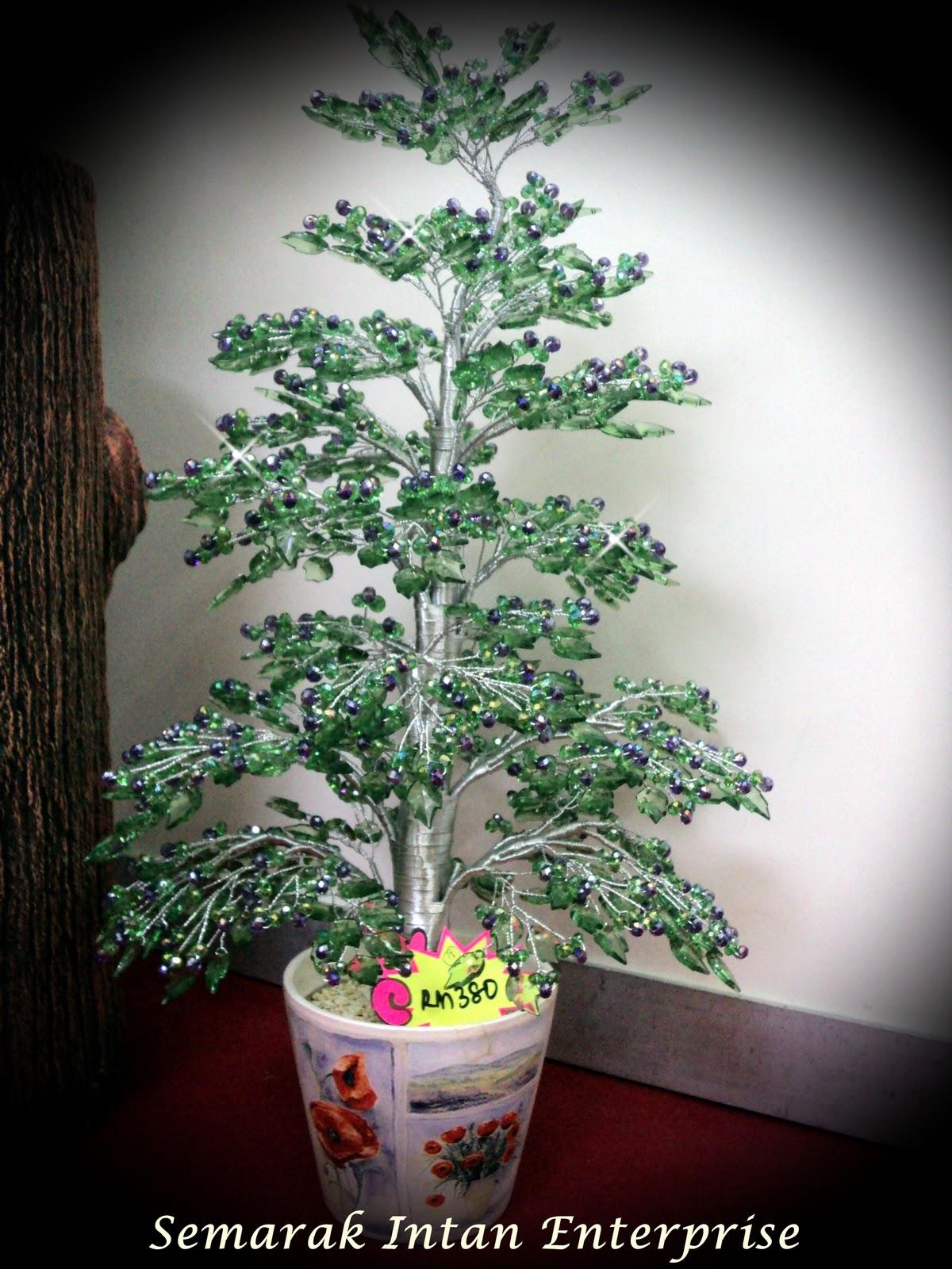 Bunga Pokok Krismas Kristal Hijau+Ungu RM380