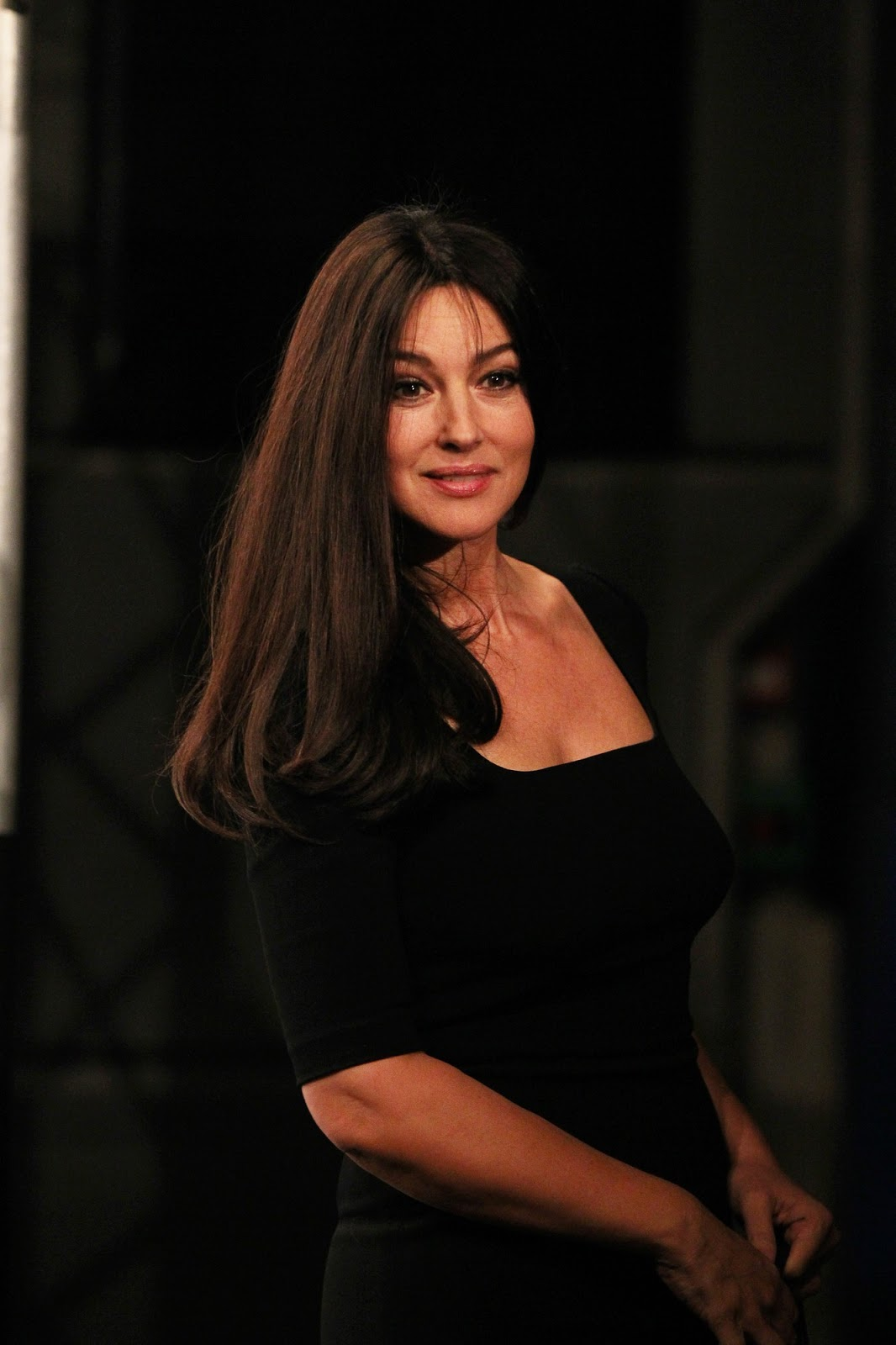 monica bellucci opening of the 4th lumiere film festival just fab celebs. Black Bedroom Furniture Sets. Home Design Ideas