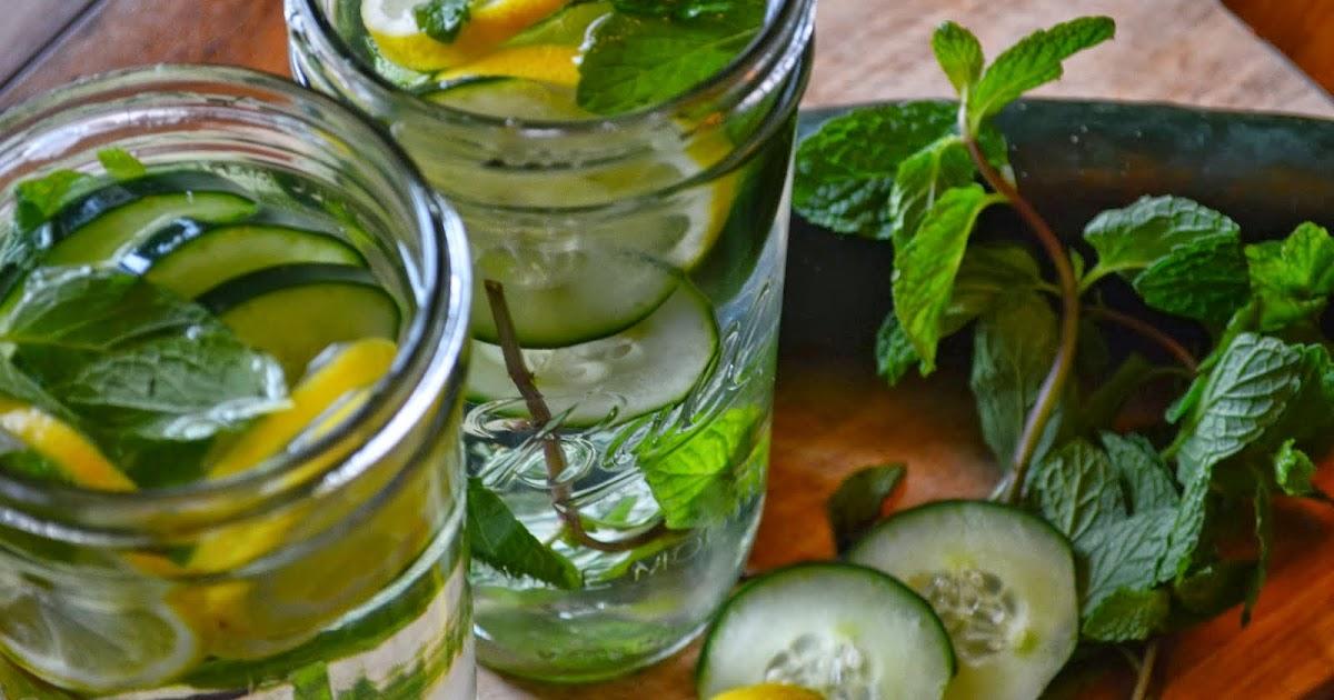 Limonada con jengibre, pepino y menta para bajar de peso y