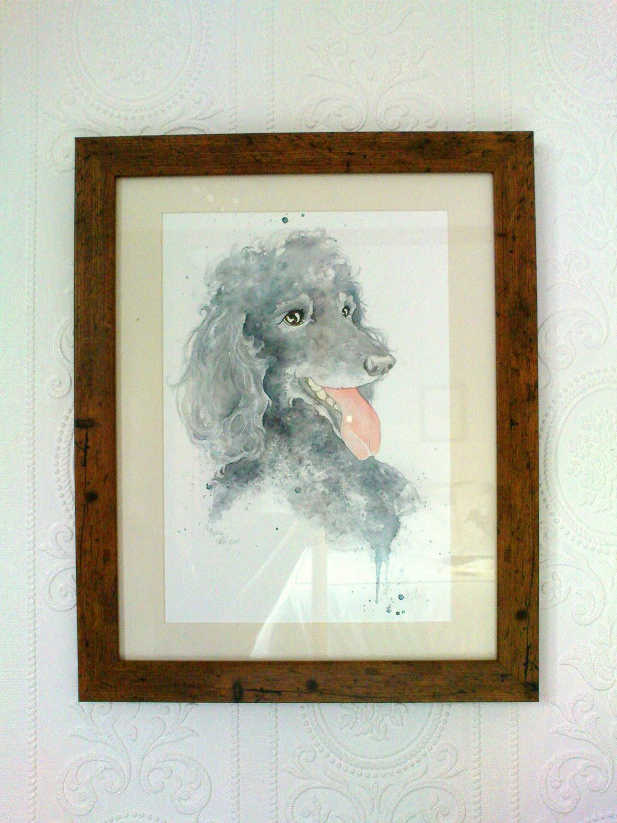 amy holliday illustration framed poodle portraits and sarah u0027s