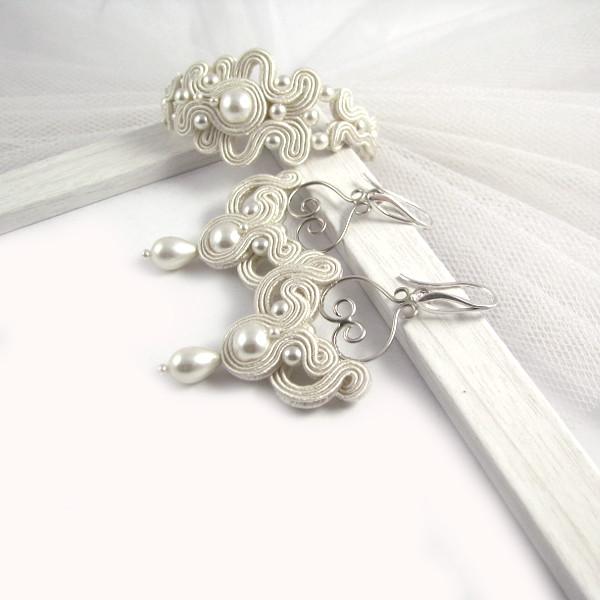 Biżuteria sutasz do ślubu, komplet