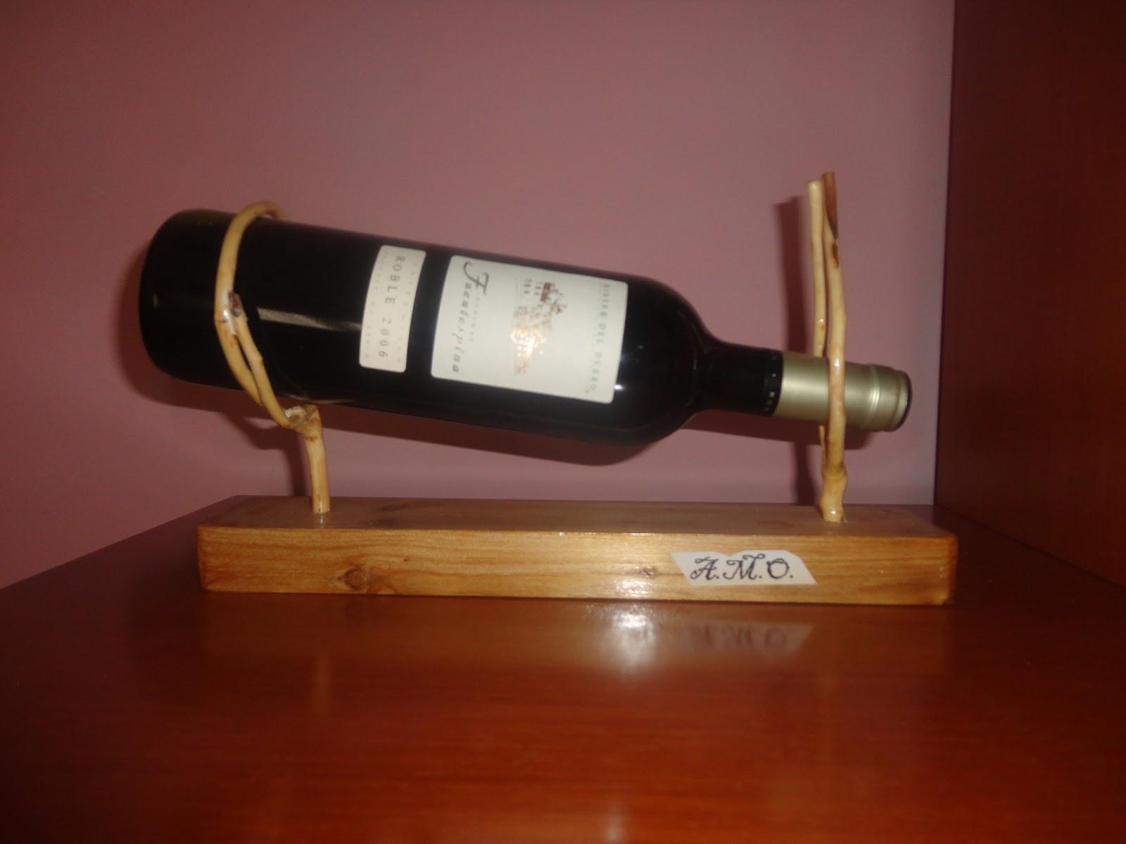 Botelleros artesanos botellero de madera cl sico 2 - Botelleros de madera para vino ...