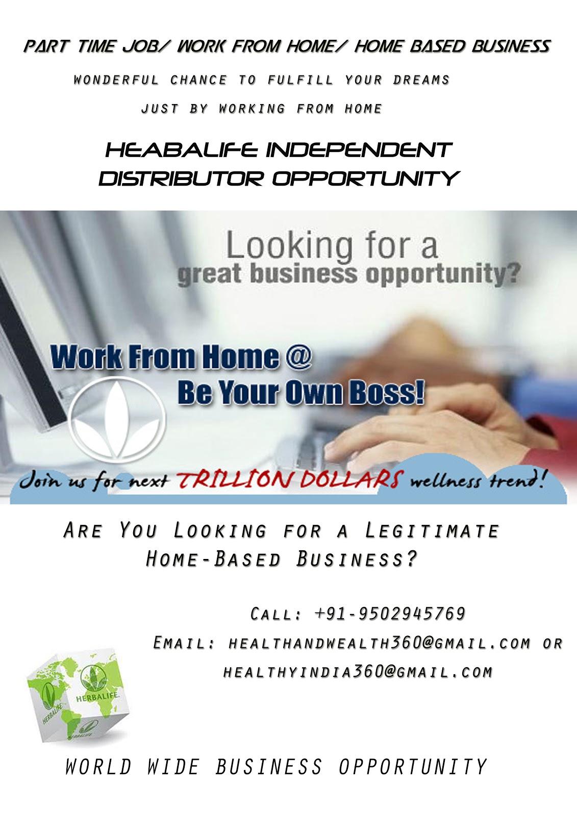 Herbalife Business Opportunity: Herbalife Flyer