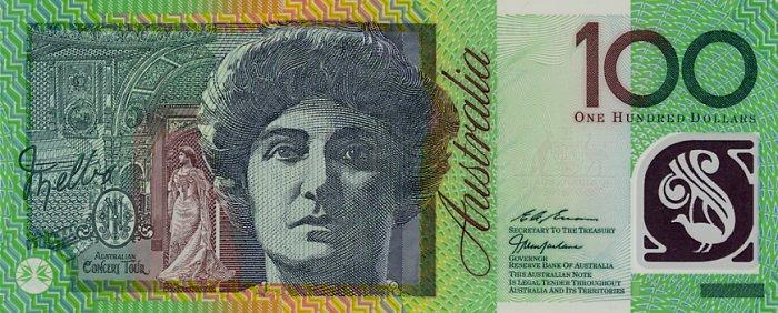 Como Viver sem Dinheiro Austrália AustraliaP55b 100Dollars  252819 252999 dgs f