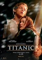 Cartel de Titanic 3D, de James Cameron, con Leonardo DiCaprio y Kate Winsley
