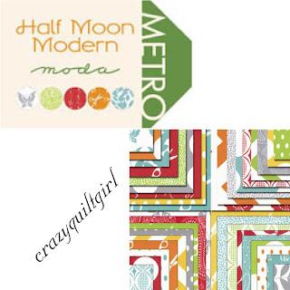 Moda HALF MOON MODERN Fabric by Moda Fabrics