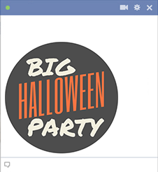 Halloween party Facebook sticker