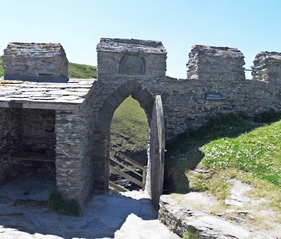 Through the gate at King Arthur's Tintagel Castle