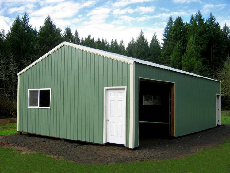 Econ o fab buildings oregon pole buildings january 2013 for 24x36 pole barn