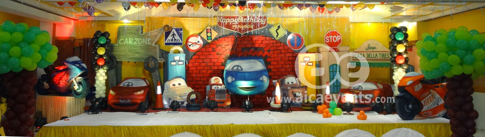 aicaevents Disney Cars Theme Birthday party