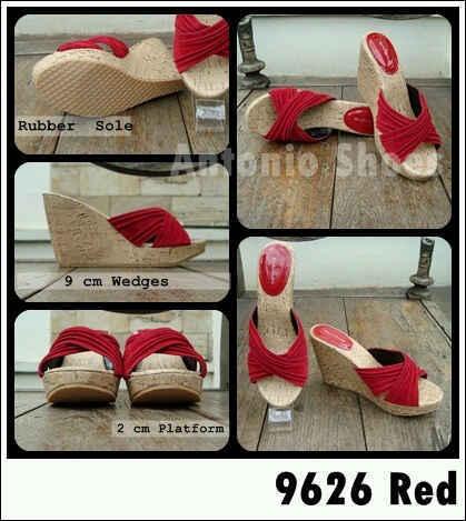 Aneka model sepatu sandal wanita murah,Model sandal wanita terbaru model Red