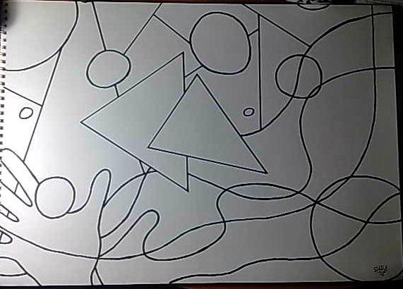 Figuras abstractas faciles de dibujar imagui for Imagenes de cuadros abstractos faciles