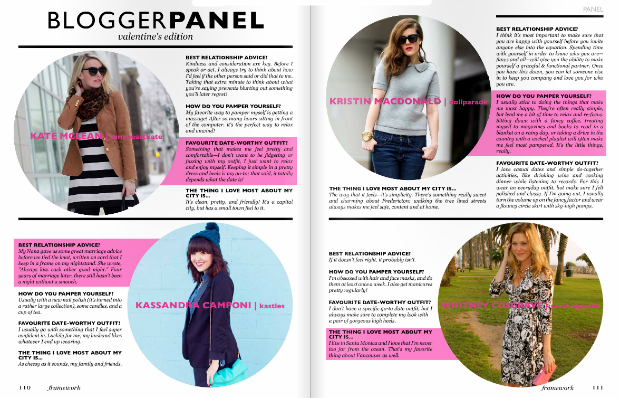 Canadian Fashion Bloggers Magazine Feature
