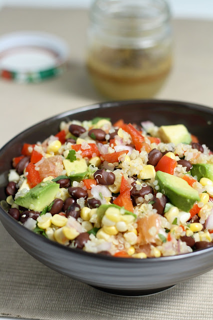 quinoa, black bean & citrus salad