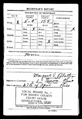 Joe Haitz - World War II Draft Registration Card