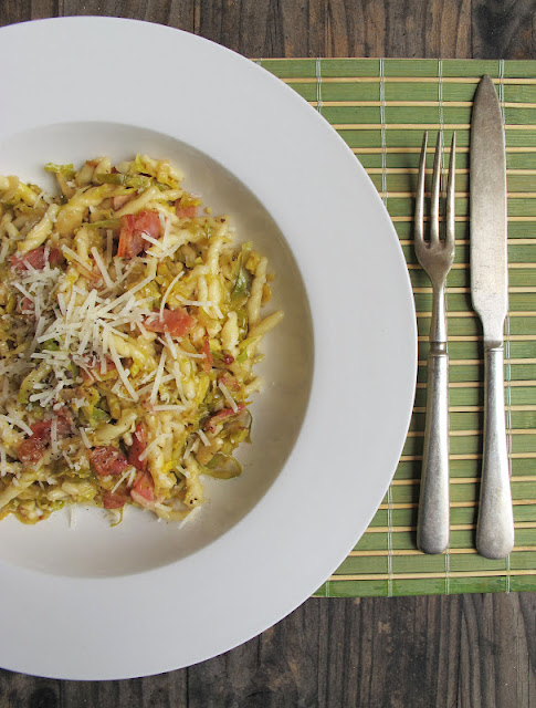 Morsels and Musings: brussels sprouts, pancetta & lemon pasta
