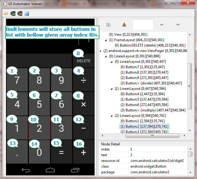 ui automator viewer get android app element s xpath id