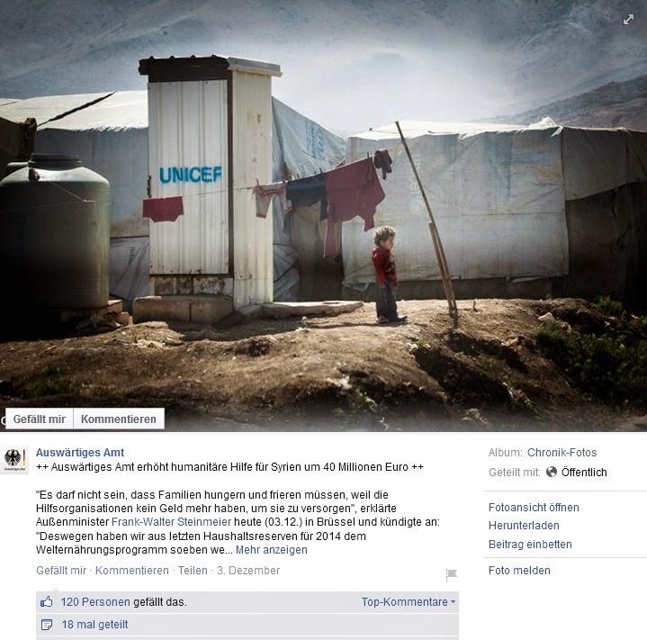 Humanitäre Hilfe für Syrien